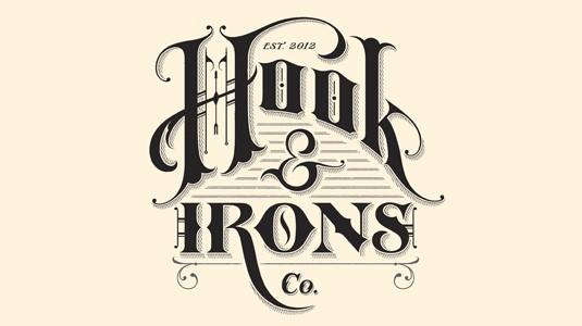 logo hook irons