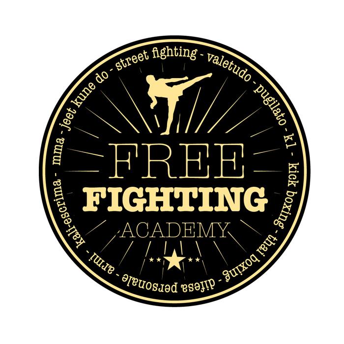 "Logo Palestra di Arti Marziali ""Free Fighting"""