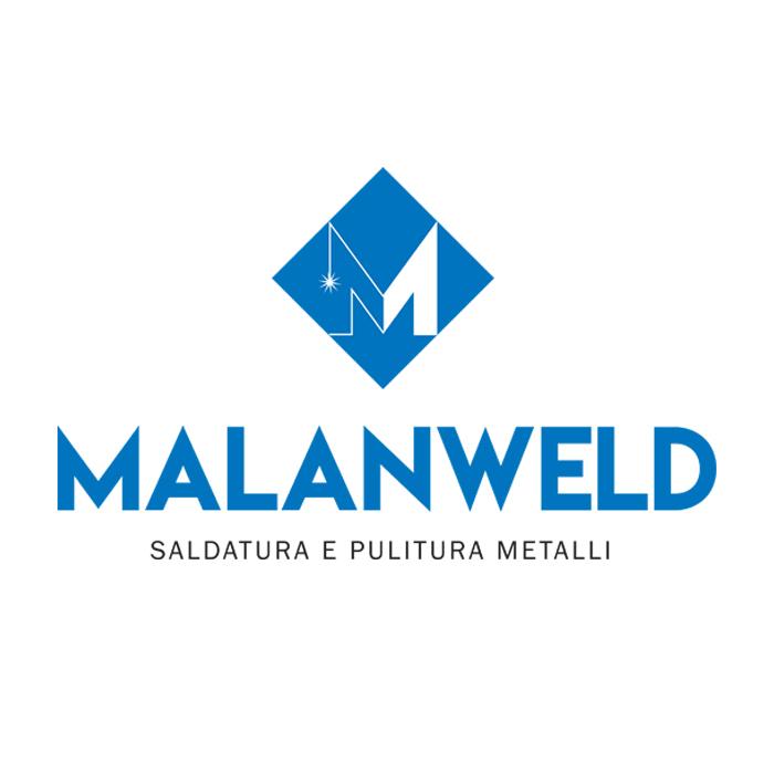 """Logo Società di Saldatura e Pulitura Metalli """"Malanweld"""""""