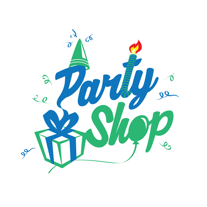 logo società di servizi ludici party shop