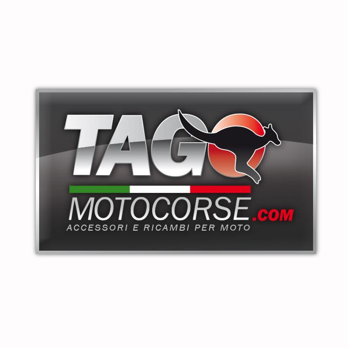 """Logo Negozio di Accessori e Ricambi per Auto """"Tago Motocorse"""""""