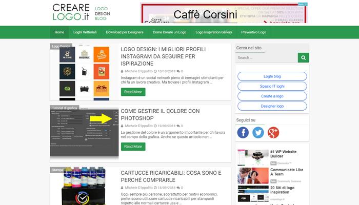 Sito per Blog di Logo Design