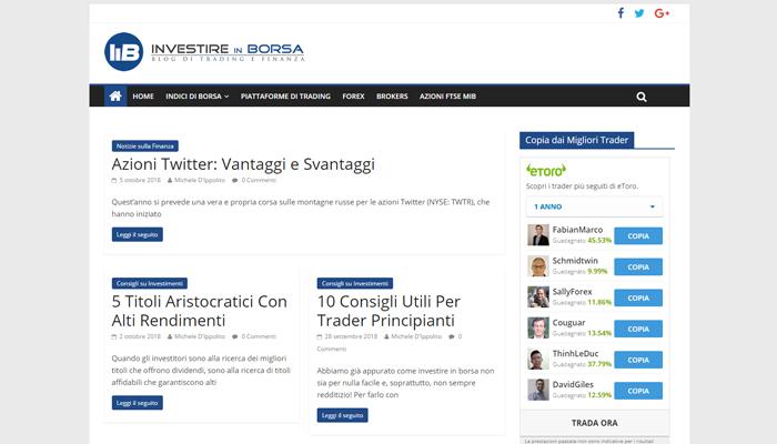 Sito per Blog di Finanza e Trading