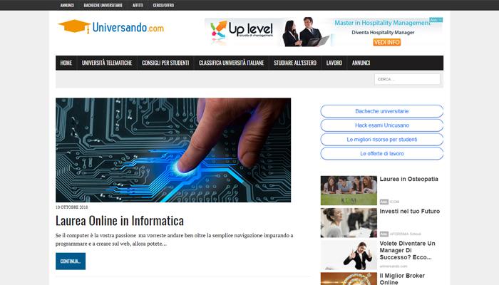 Sito per Blog Universitario