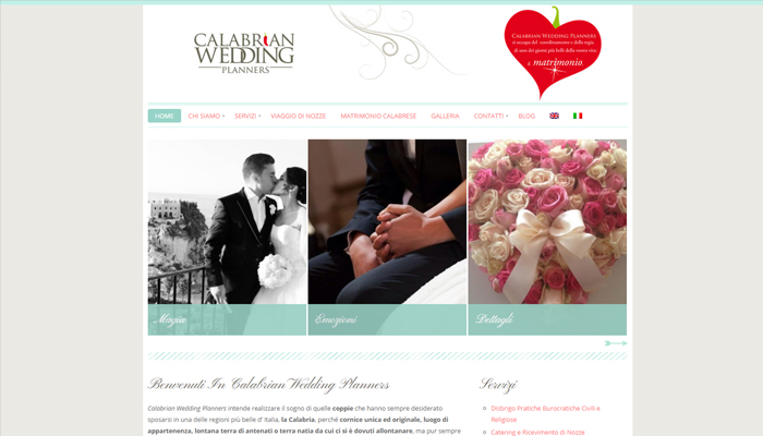 Sito per Agenzia di Wedding Planner